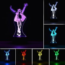 Led Night Light Michael Jackson Figure 7 Colors Child Baby Gift Decorative Lamp Bedroom Table Accessories
