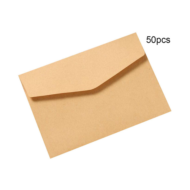 50pcs/lot Black White Craft Paper Envelopes Vintage European Style Envelope For Card Scrapbooking Gift P0 Mail & Shipping Supplies