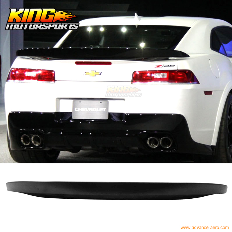 2016-2017 CHEVY CHEVROLET CAMARO RS SS ZL1 BLACK REAR TRUNK TOP SPOILER WING NEW