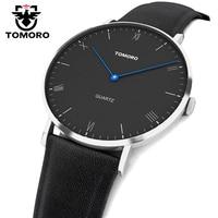TOMORO Super Slim Quartz Casual Wristwatch Business JAPAN Genuine Leather Analog Quartz Watch Men S Fashion