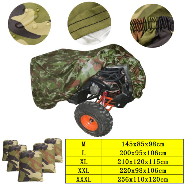 Silver Camouflage M-XXXL Motorcycle Cover ATV Cover Vehicle Beach motos Case Waterproof Scooter Motorbike Cover Protector(China)