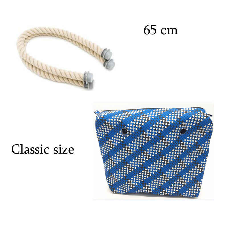1 pair bag handle with Size Inner Lining Zipper Pocket for classic for Obag Insert with Inner for O Bag цена