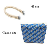 1 Pair Bag Handle With Size Inner Lining Zipper Pocket For Classic For Obag Insert