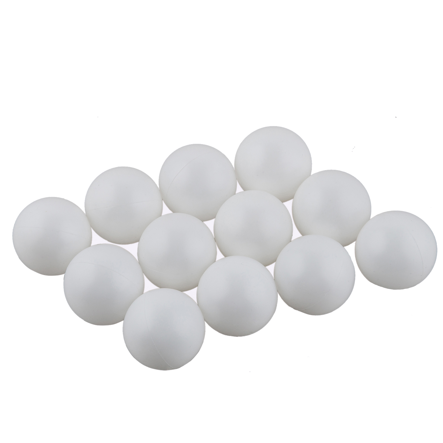 Pack Of 12 Plain White Unbranded Table Tennis Balls