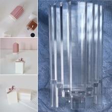 1* ясная свеча ручной работы плесень пластиковые изготовления Свеча «сделай сам» Мыло Ремесло штамповочные детали