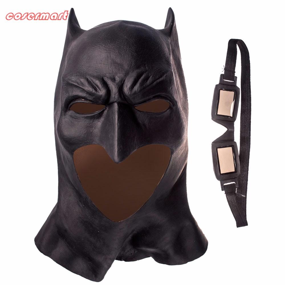 Batman Masks Full Head Latex Batman Vs Superman Masks With Glasses Dark Knight  Mask Cosplay Batman Masks Halloween Party