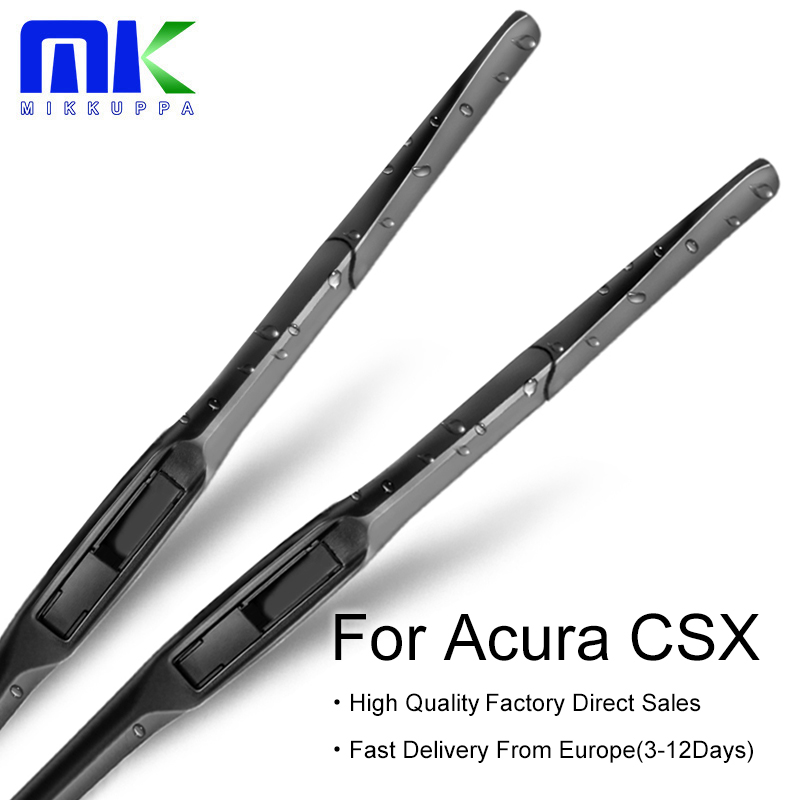 Mikkuppa Wiper Blades For Acura CSX 2008 2009 2010 2011