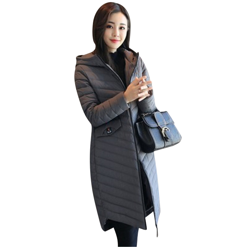купить 2017 European American New Winter Jacket Women's Fashionable Middle Style Cotton Clothes  Wear  Hooded Down Jacket недорого