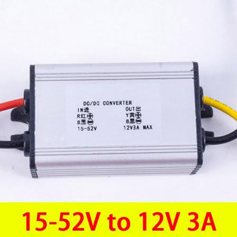 10 pièces 15-52 V à 12 V 3A DC DC Convertisseur Abaisseur Module Régulateur De Tension pour DC Convertisseur D'alimentation de Voiture