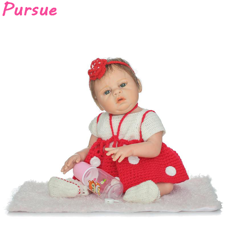 Pursue 20/50cm Doll Baby Real Bebe Reborn Silicone Reborn Baby Dolls bonecas bebe reborn menina realista com corpo de silicone набор сверл bosch v line 48 48 предметов 2607017314