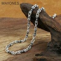 5mm Width Vajra Chain Necklaces 925 Silver 5mm 45cm to 80cm Original S925 Thai Silver Women Men Necklace free shipping