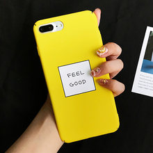 LOVECOM Amarelo Carta Cor Case Para iPhone XS XR XS Max X 8 7 6 6S Plus Matte Disco PC Moda Telefone de Volta Cove Capa Fundas Coque(China)