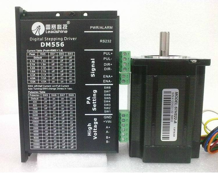 New The CNC system Stepper Drives DM556+ 57HS22 stepper motor NEMA 23 out 2.2NM a set CNC SYSTEM economic and High performance ручка cross sauvage brown chrome at0312 4