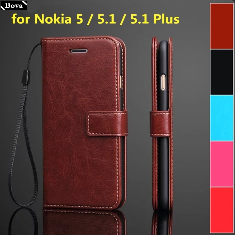 card holder cover <font><b>case</b></font> for <font><b>Nokia</b></font> <font><b>5.1</b></font> / for <font><b>Nokia</b></font> 5 / <font><b>5.1</b></font> <font><b>Plus</b></font> leather phone <font><b>case</b></font> <font><b>wallet</b></font> flip cover protective <font><b>case</b></font> phone bags image