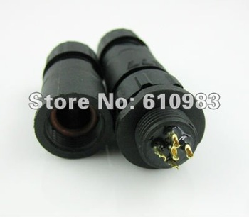 Free shipping (10 sets\lot) Wholesale Waterproof Connector adapter LED Light 5Pin M14 connector