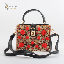 Floral Crystal Women Evening Totes Bag Leopard Acrylic Clutches Shoulder Handbags Crossbody Bags Hardcase Ladies Box Clutch Bag цена в Москве и Питере