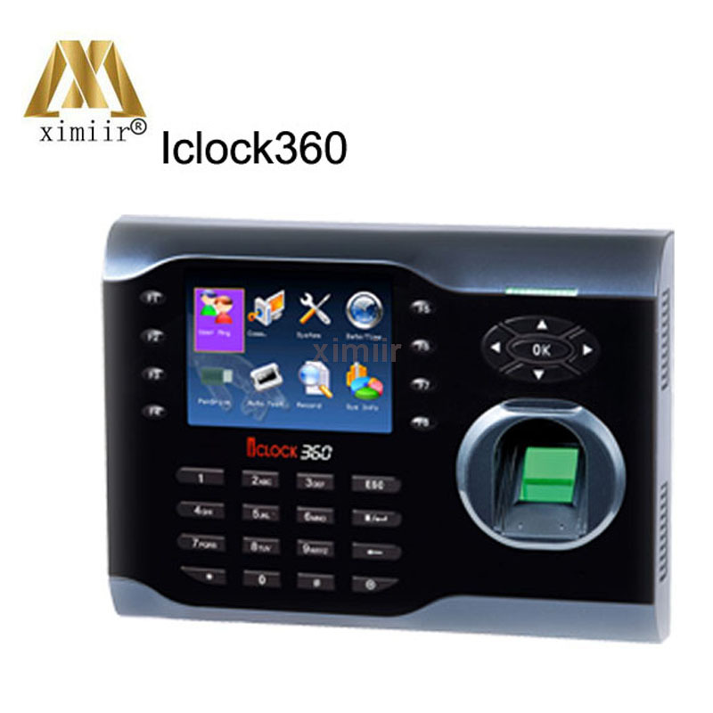 Hot Sale TCP/IP,RS232/485,USB-host Iclock360 Fingerprint Time Clock 8000  User Fingerprint Capacity  Fingerprint Time Attendance