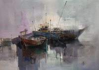 No Framed Boat Abstract Printed Painting Oil Painting By Numbers Home Decor Wall Art Picture For