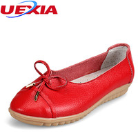Women Shoes Leather Loafers Slip On Female Flats Pregnant Single Shoes Women S Driving Work Lady