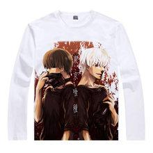 Tokio Ghoul Camiseta Camisa Rinkaku a calor mangas Largas camisetas anime Fan kawaii traje camisetas de los hombres camisas de Anime un