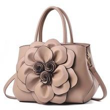 959c3b59f8 New PU Leather Handbags Women Shoulder Bags 3D Flower Design Women  Crossbody Bags Ladies Handbag Female