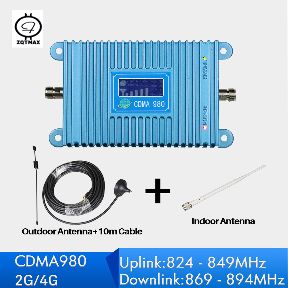 2G <font><b>850</b></font> <font><b>MHz</b></font> <font><b>Repetidor</b></font> Sinal Celular LCD Display cdma Mobile Phone Signal Repeater Mini Size 4G Booster with antenna set image