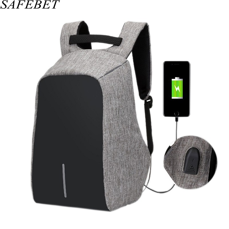 SAFEBET Brand Multifunction Security anti-theft Waterproof USB charging travel Backpack 15.6 Inch Apple notebook Laptop Bag