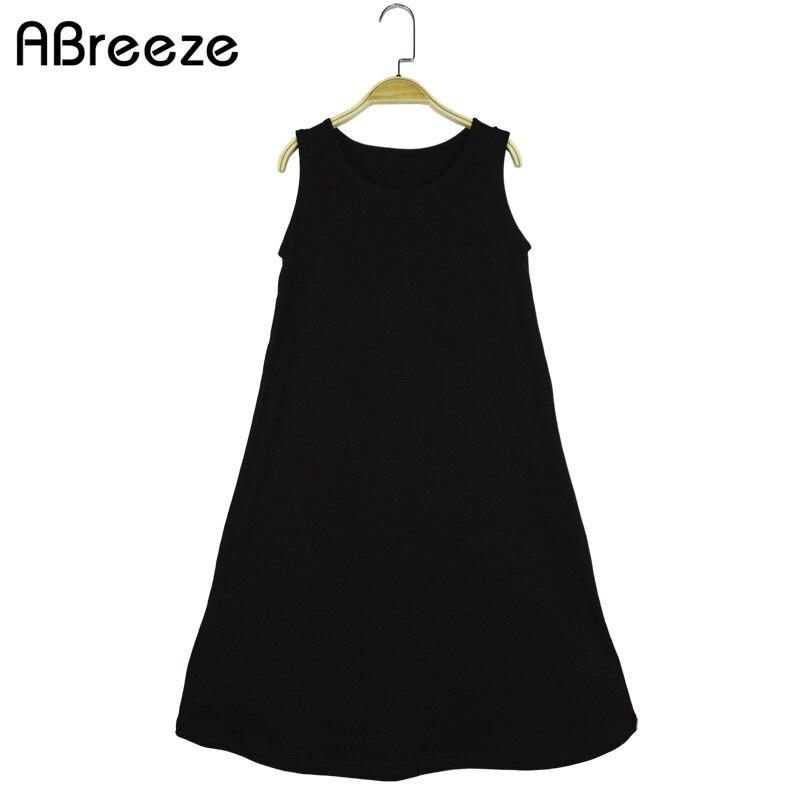 Summer 4-14T big girls costumn European style black children long dresses for girls 100% cotton kids dresses girls