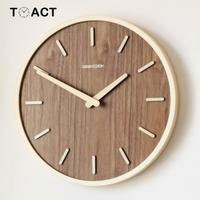Large Wooden Wall Clock Wood Wall Clocks Home Decor Quartz Watches Accessories For Living Room Wood Watch Modern Design
