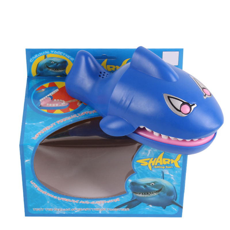 Hot Sell Creative Practical Jokes Mouth Hand Classic Shark Biting Hand Crocodile Game Children's Toys Family Dog Games