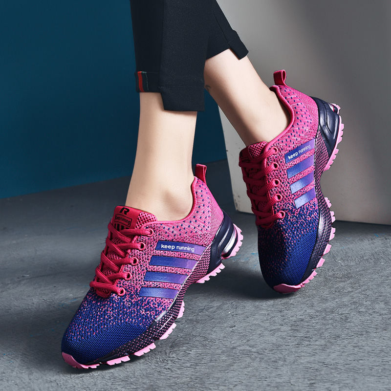 Couple Running Shoes Breathable Outdoor Male Sports Shoes Lightweight Sneakers Women Comfortable Athletic Training Footwear Men's Shoes Shoes