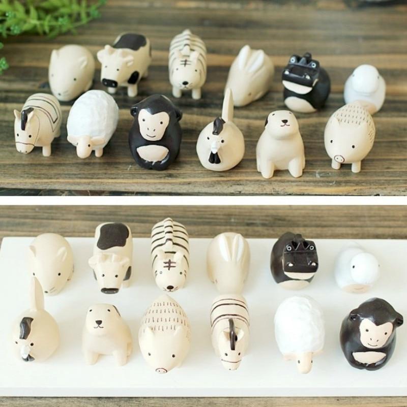 12 Pieces/set Animal Figures Artificial Decoration Ornaments Home Decoration Accessories  Miniature Figurines ElimElim