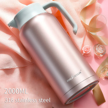 2L Thermo Jug 306 Stainless Steel Heat Kettle Vacuum Insulated Pot Coffee Tea Thermos Flasks Cups цена и фото