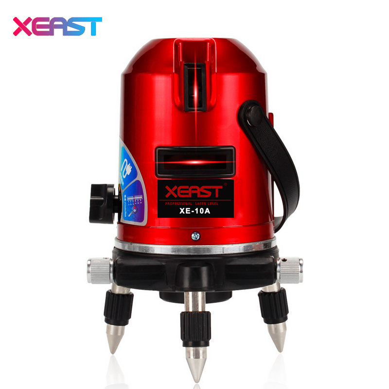 XEAST XE-10A 5 lines 6 points laser level laser line leveling 360 rotary cross with outdoor model-New product promotion!!! high quality southern laser cast line instrument marking device 4lines ml313 the laser level