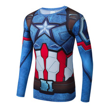 3D Printed T-shirts Captain America Civil War Tee Long Sleeve Compression Shirt Cosplay Costume Clothing news Tops Male