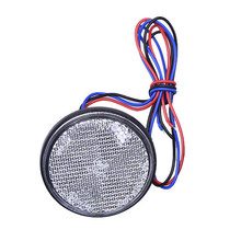 Universal 12V Round 3528 SMD LED Turn Signal Light Three-wire Red, White, Yellow For Car, Trucks,SUV, Trailer, Motorcycle(China)
