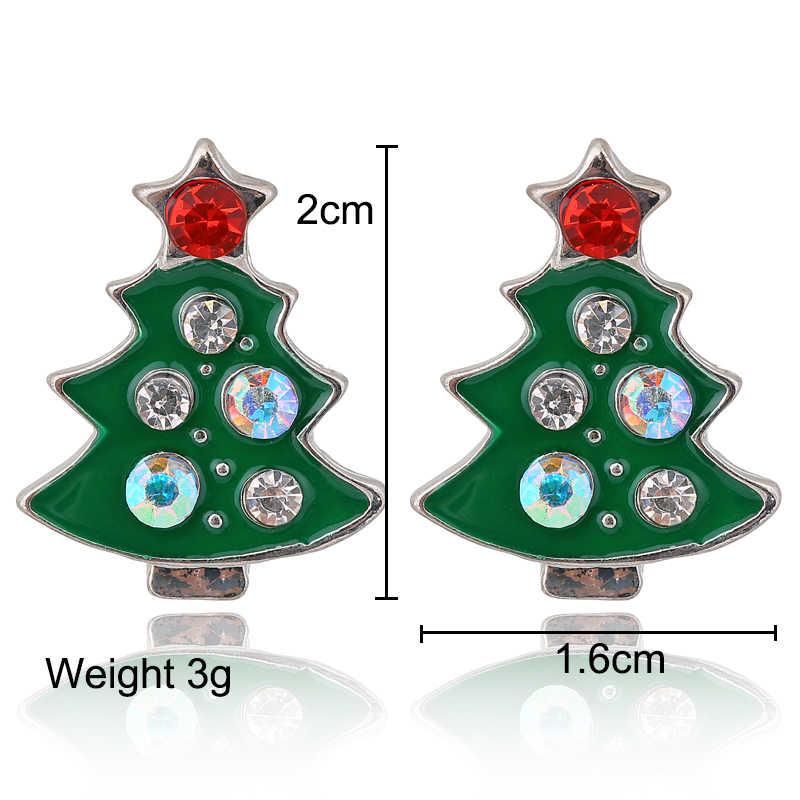 Xiyanike boutique nova moda feminina elk papai noel linda árvore sino natal jóias brinco para presentes femininos e1372