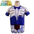 Saint Seiya Bronze Saint Hyoga Cosplay T-Shirt Tee Anime Summer Style Short Sleeve T Shirt For Men
