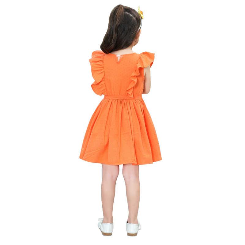 f0d95cd41c4bb 2 - 10 yrs baby girls cute yellow ruffle short sleeve princess dress 2018  new summer children dresses elegant frocks for girls
