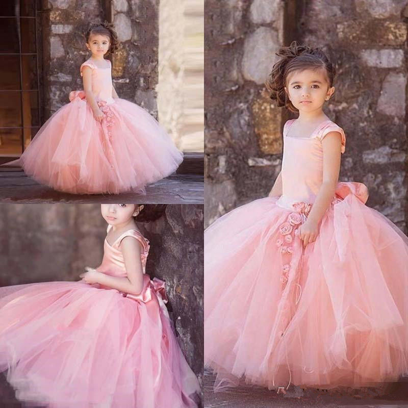 Custom Made Pink Flower Girl Dress Girls Pageant Prom Party Gowns With Big Bow managing projects made simple