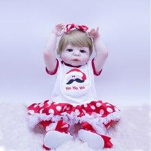 цены на Silicone Reborn Dolls Baby Realistic alive Doll Reborn 57CM Full Vinyl Boneca BeBe Reborn Doll For Girls beatiful Birthday Gifts