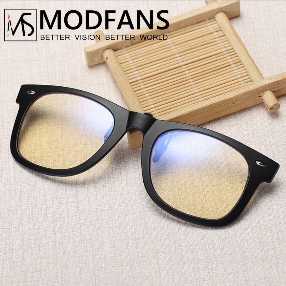 Blue Light Blocking Clip-on Computer Reading Glasses Anti Blue Rays Clip On Gaming Protection Eyewear High Quality TR90