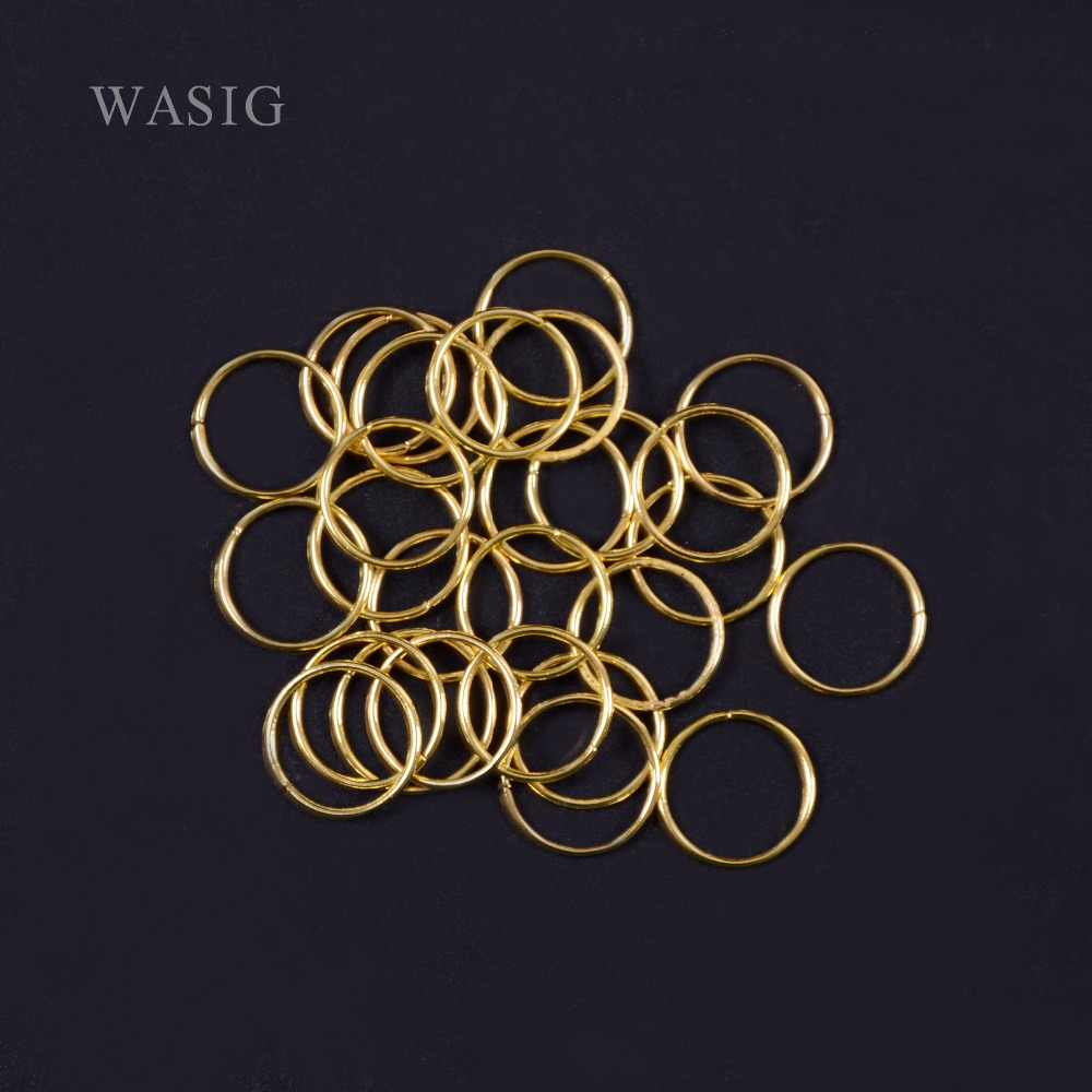 20pcs/lot Golden/ Silver hair braid dreadlock bead cuff clip Braid Hoop Circle approx 10mm inner hole