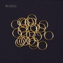 20pcs/lot Golden/ Silver hair braid dreadlock bead cuff clip Braid Hoop Circle approx 10mm inner hole