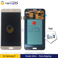 100 Tested Original Super Amoled LCD Screen Touch Digitizer Assembly For Samsung J7 J700 Lcd Display