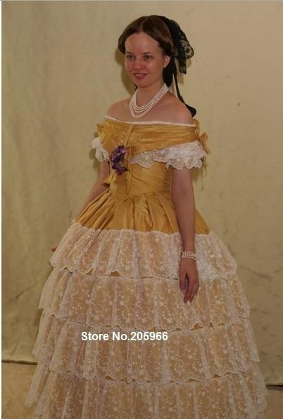 Nach Maß 1855 Viktorianischen Ballkleid von der Wintehalter porträt ...