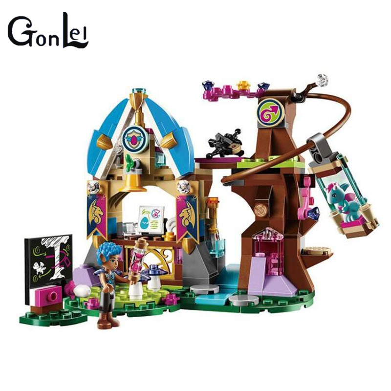 (GonLeI) 10501 233Pcs Princess Friends Elves Elvendale School of Dragons Model Building Kits Blocks Brick with dragons фигурка toothless сидящий