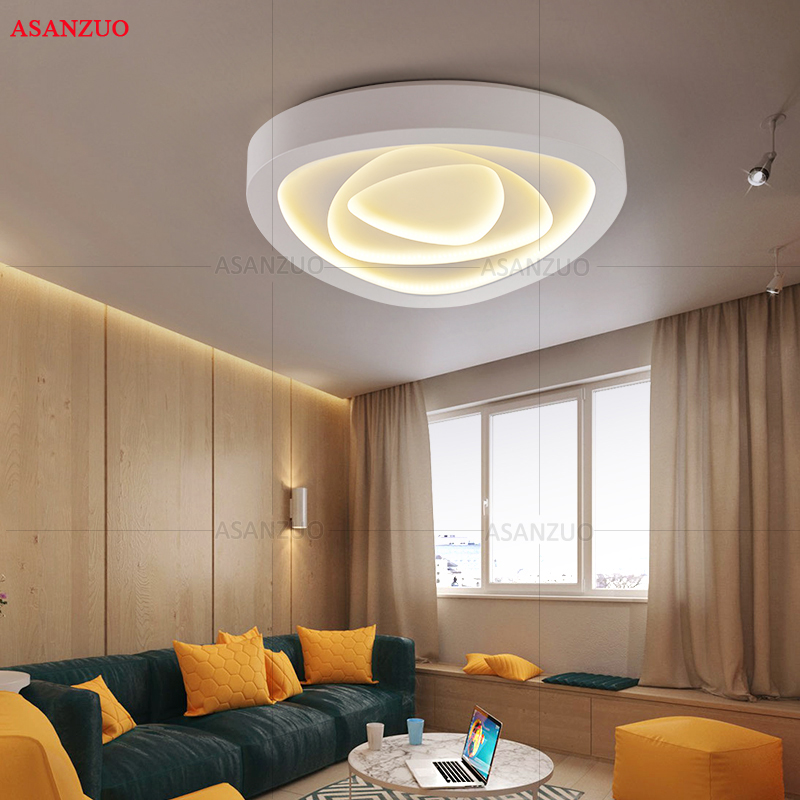 Image 2 - Creative triangle ceiling lights art LED ceiling lamp for Sitting room bedroom study corridor balcony with remote control-in Ceiling Lights from Lights & Lighting