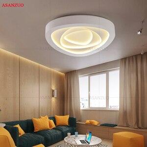 Image 2 - Plafonnier triangulaire au design créatif avec télécommande, luminaire de plafond, idéal pour un salon, une chambre à coucher, un couloir, un balcon, LED