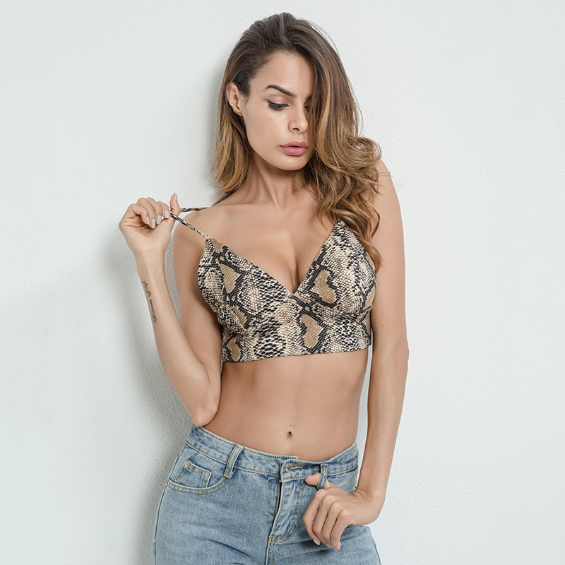 186ec85545 Women Workout Outfits Fitness New Arrival 2018 Spaghetti Strap Leopard  Print Sexy Push Up Crop Tops. US  10.63. HOTAPEI Fitness Breathable Gym Bras  ...